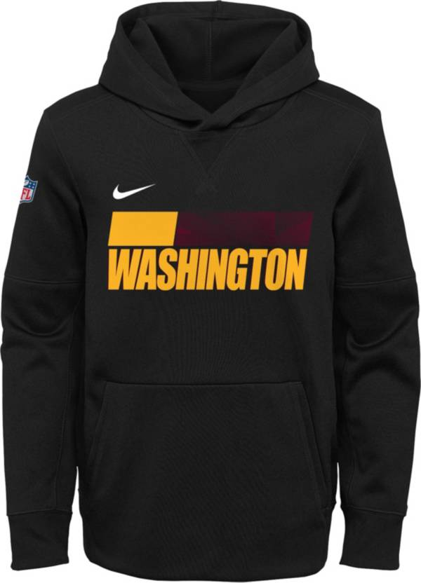 Nike Youth Washington Football Team Sideline Therma-FIT Black Pullover Hoodie product image