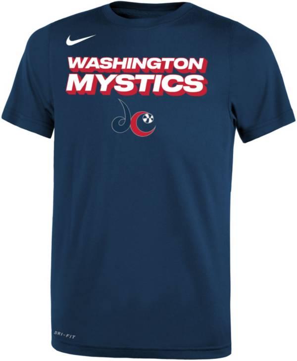 Nike Youth Washington Mystics Navy Logo T-Shirt product image
