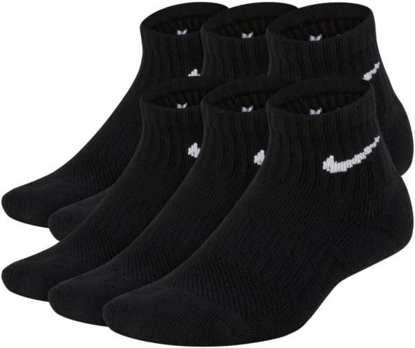 Nike Youth Performance Cushioned Training Quarter Socks – 6 Pack product image