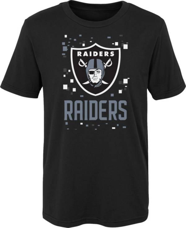 NFL Team Apparel Youth 4-7 Las Vegas Raiders Black Zoom T-Shirt product image