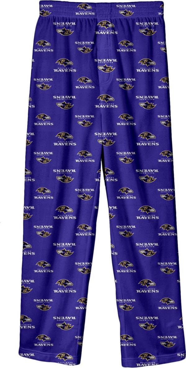 NFL Team Apparel Boys' Baltimore Ravens Jersey Pajama Pants