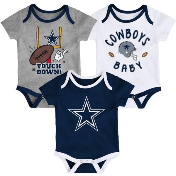 NFL Team Apparel Infant Dallas Cowboys Champion 3-Pack Bodysuit product image