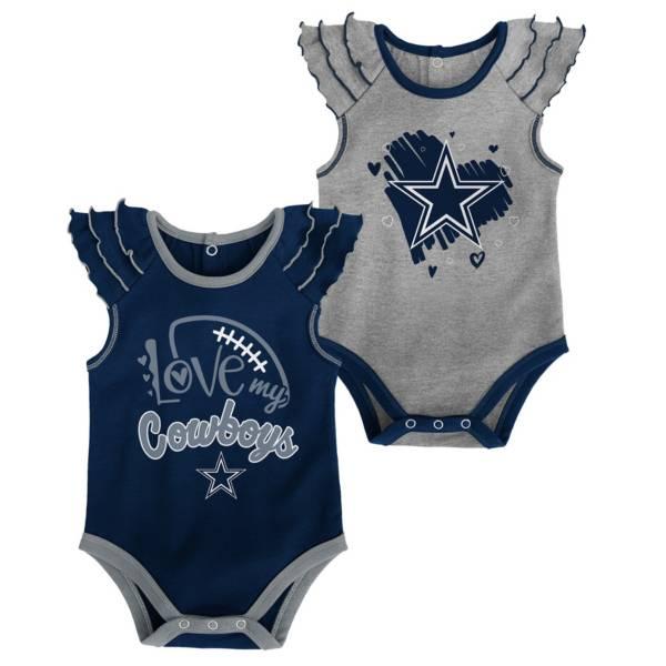 NFL Team Apparel Infant Girls' Dallas Cowboys Touchdown 2-Pack Bodysuit product image