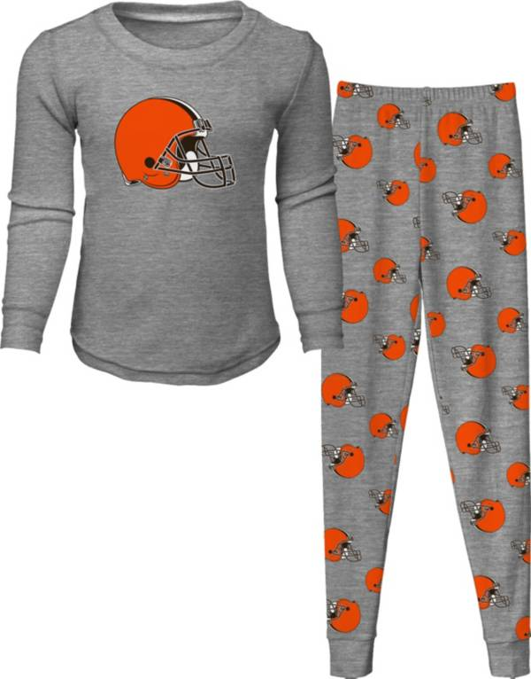 NFL Team Apparel Toddler's Cleveland Browns Long Sleeve Sleep Set product image