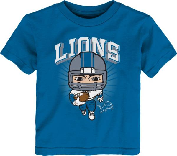 NFL Team Apparel Toddler Detroit Lions Blue Player T-Shirt product image