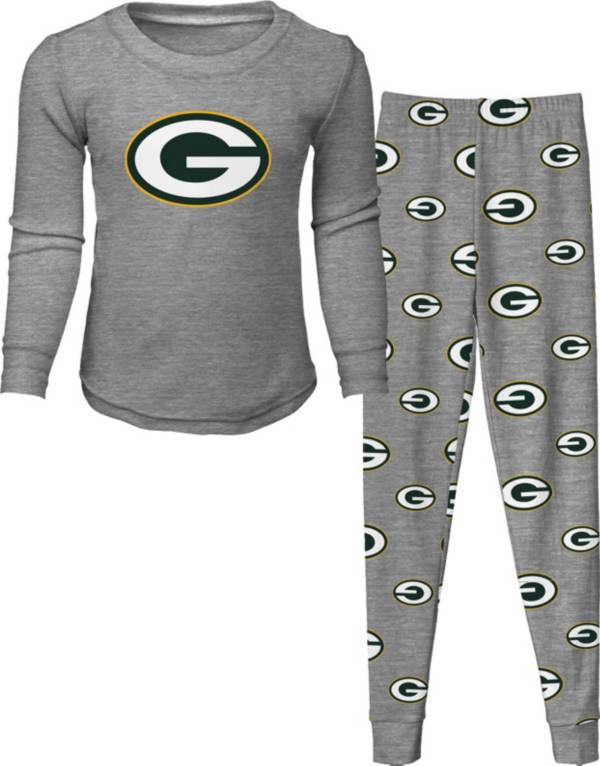 NFL Team Apparel Toddler's Green Bay Packers Long Sleeve Sleep Set product image