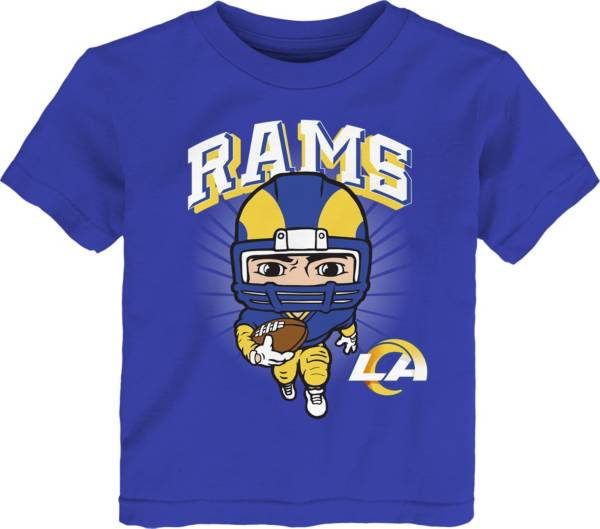 NFL Team Apparel Toddler Los Angeles Rams Blue Player T-Shirt product image