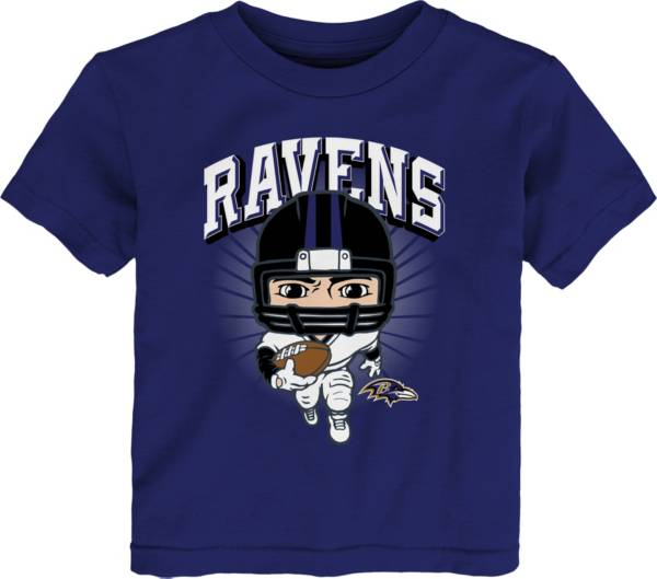 NFL Team Apparel Toddler Baltimore Ravens Purple Player T-Shirt product image