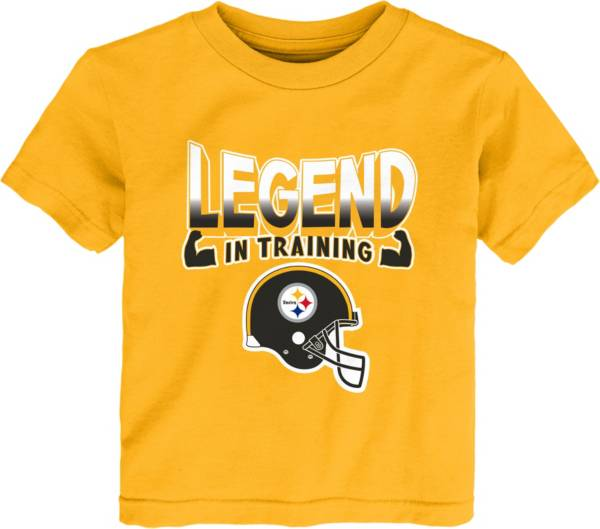 NFL Team Apparel Toddler's Pittsburgh Steelers Legend In Training Gold T-Shirt product image