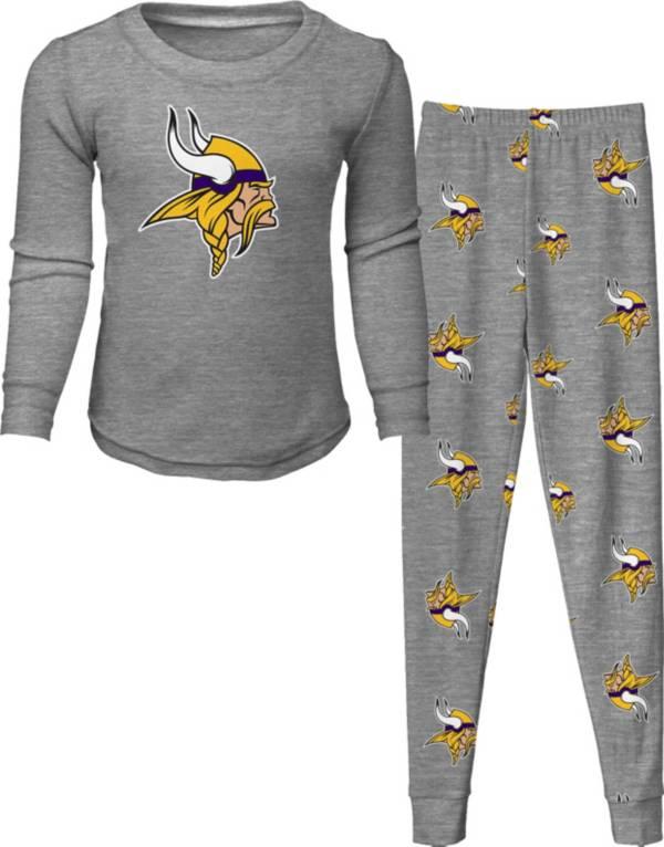 NFL Team Apparel Toddler's Minnesota Vikings Long Sleeve Sleep Set product image