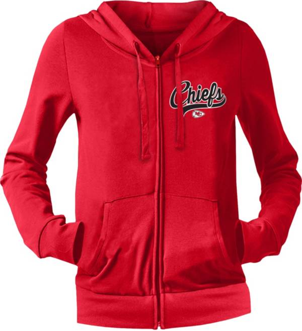 NFL Team Apparel Women's Kansas City Chiefs Red Full-Zip Hoodie product image