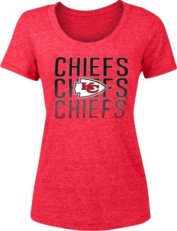 NFL Team Apparel Women's Kansas City Chiefs Repeat Red Scoop T-Shirt product image