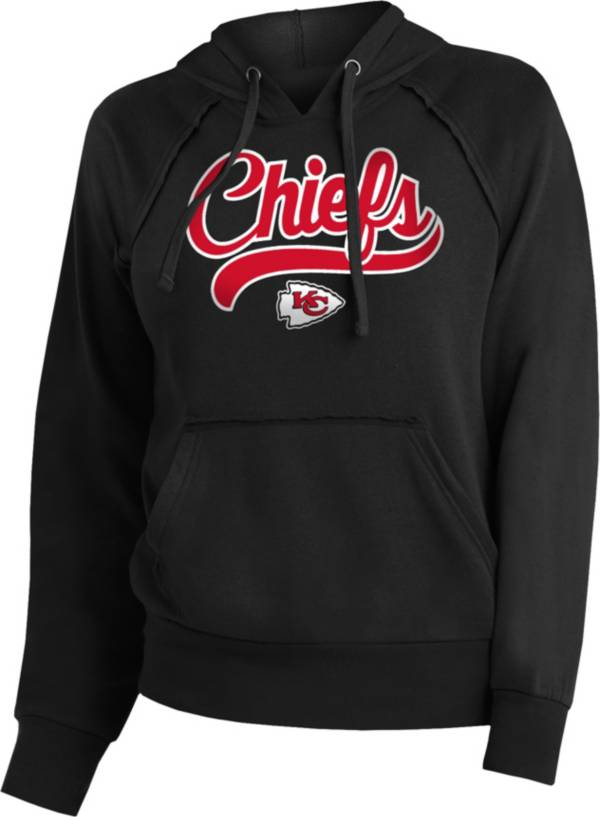 NFL Team Apparel Women's Kansas City Chiefs Script Black Hoodie product image