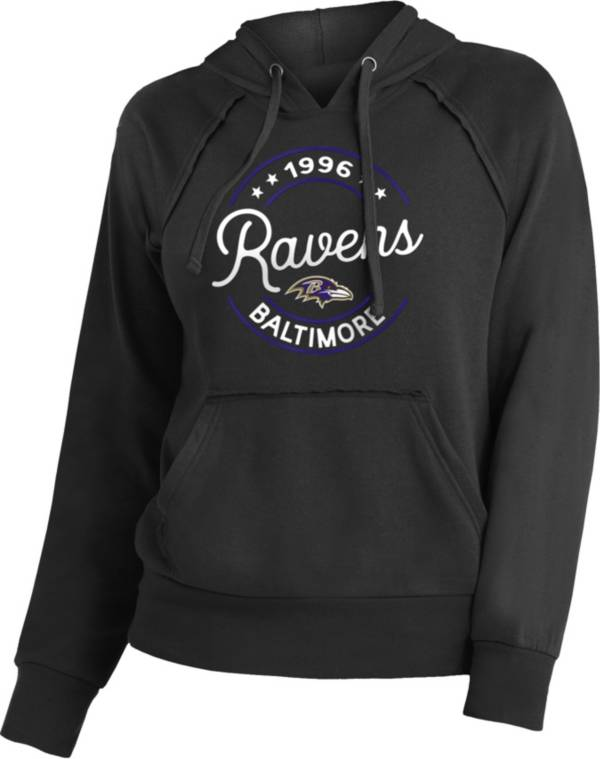 NFL Team Apparel Women's Baltimore Ravens Script Black Hoodie product image