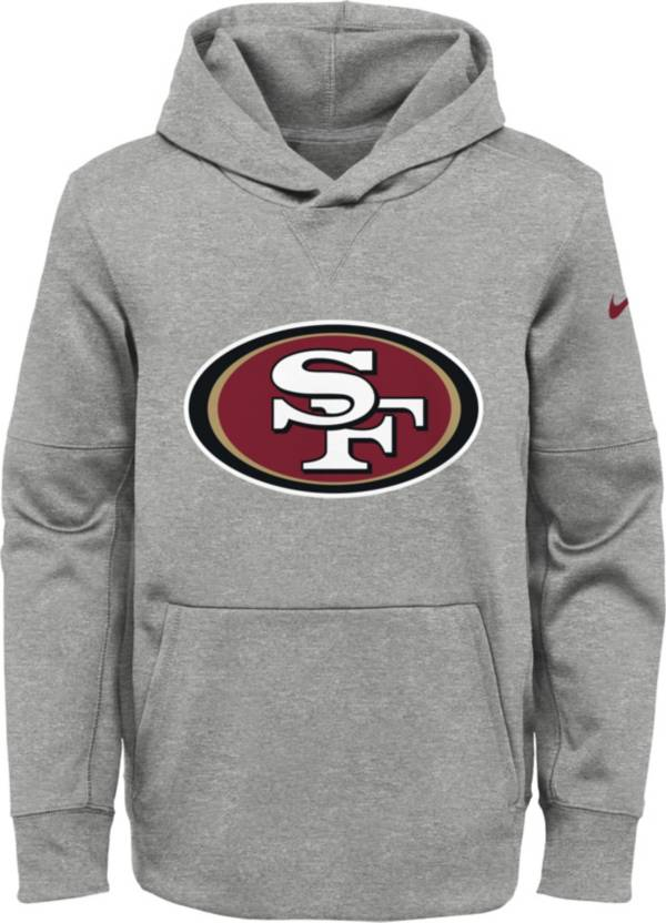NFL Team Apparel Youth San Francisco 49ers Logo Grey Hoodie product image