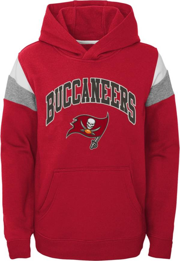 NFL Team Apparel Youth Tampa Bay Buccaneers Retro Color Block Pullover Hoodie product image