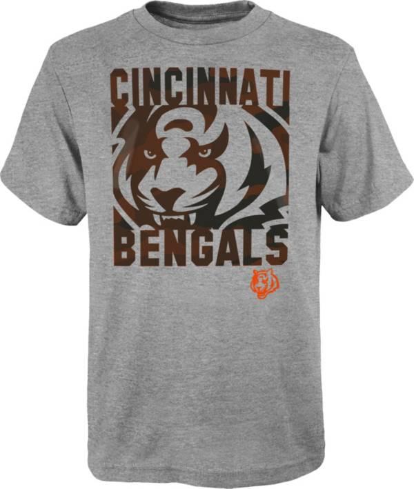 NFL Team Apparel Youth Cincinnati Bengals Grey Element T-Shirt product image