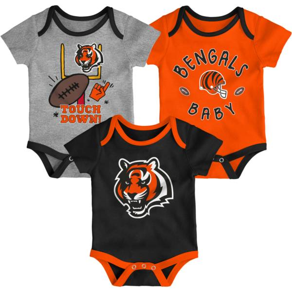 NFL Team Apparel Infant Cincinnati Bengals 3-Piece Creeper Set product image