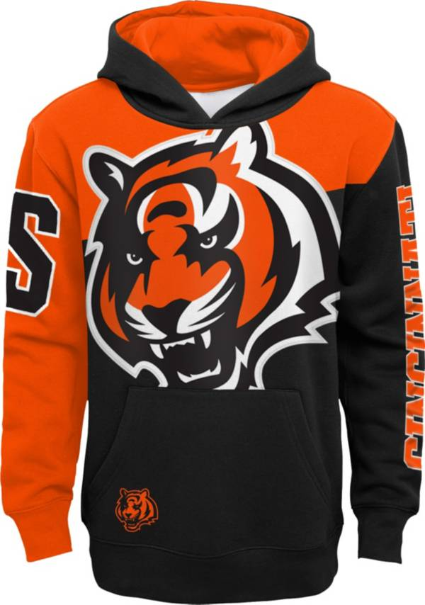 NFL Team Apparel Youth Cincinnati Bengals QB Sneak Pullover Hoodie product image