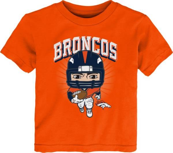 NFL Team Apparel Toddler Denver Broncos Orange Player T-Shirt product image