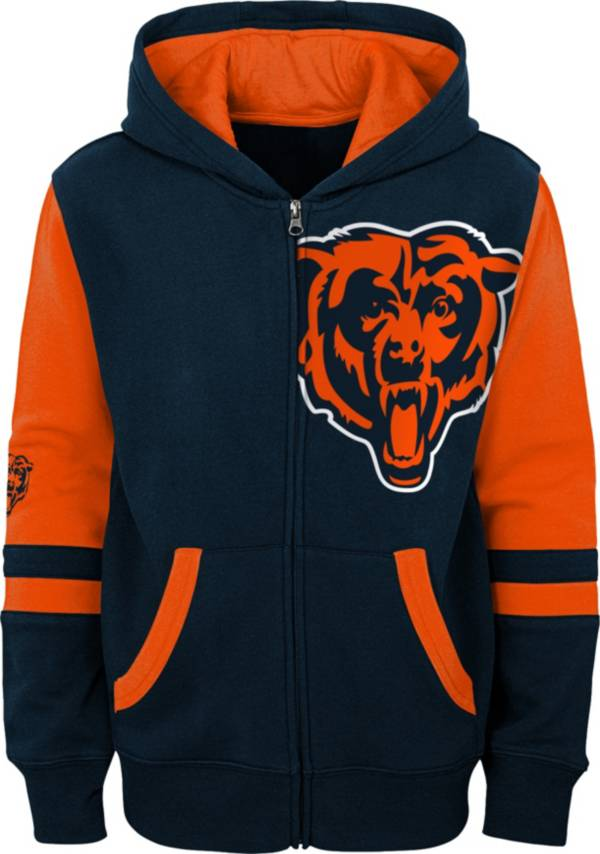NFL Team Apparel Youth Chicago Bears Color Block Full-Zip Hoodie product image