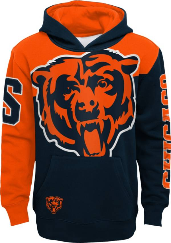 NFL Team Apparel Youth Chicago Bears QB Sneak Pullover Hoodie product image