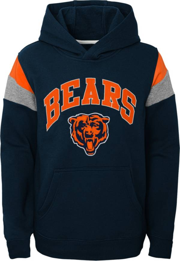 NFL Team Apparel Youth Chicago Bears Retro Color Block Pullover Hoodie product image