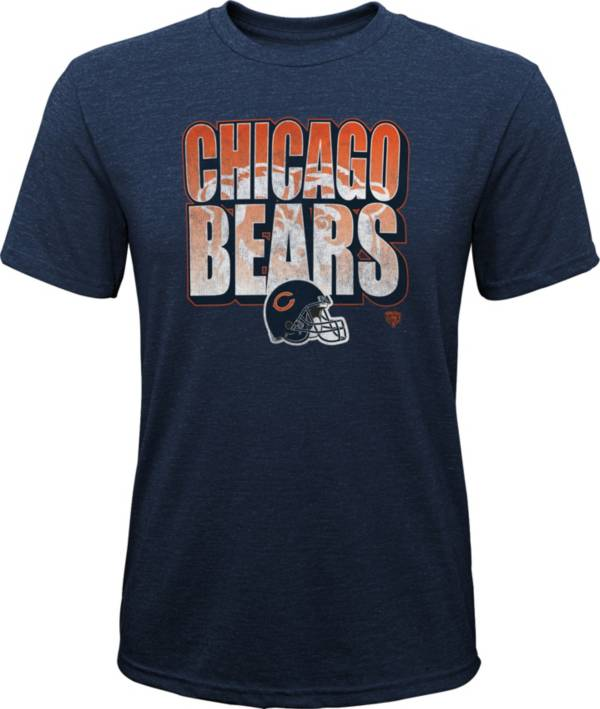NFL Team Apparel Youth Chicago Bears Stack Tri-Blend Navy T-Shirt product image