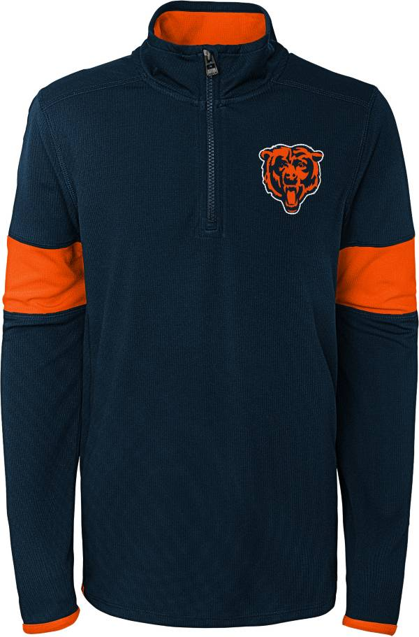 NFL Team Apparel Youth Chicago Bears Yard Line Navy Quarter-Zip product image