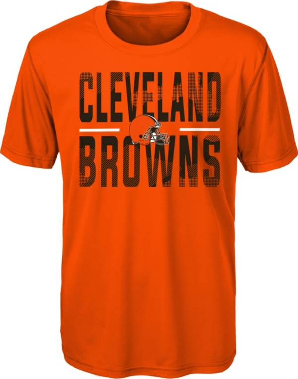 NFL Team Apparel Youth Cleveland Browns Orange Grand Central T-Shirt product image