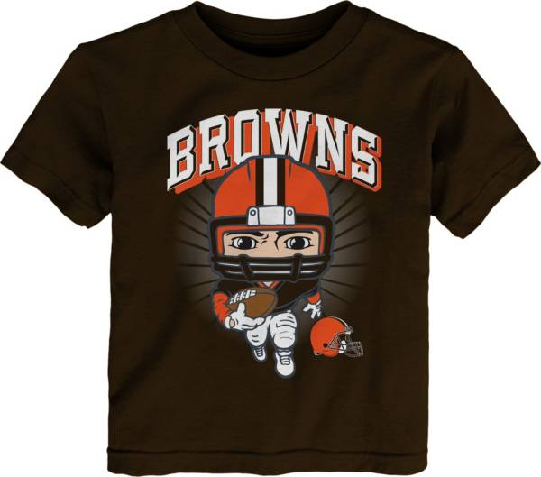 NFL Team Apparel Toddler Cleveland Browns Brown Player T-Shirt product image
