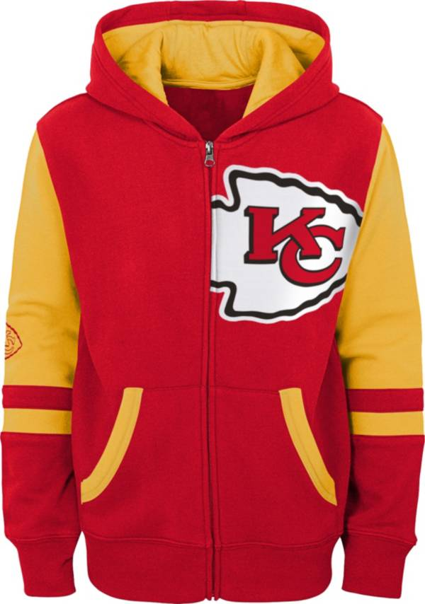 NFL Team Apparel Youth Kansas City Chiefs Color Block Full-Zip Hoodie product image