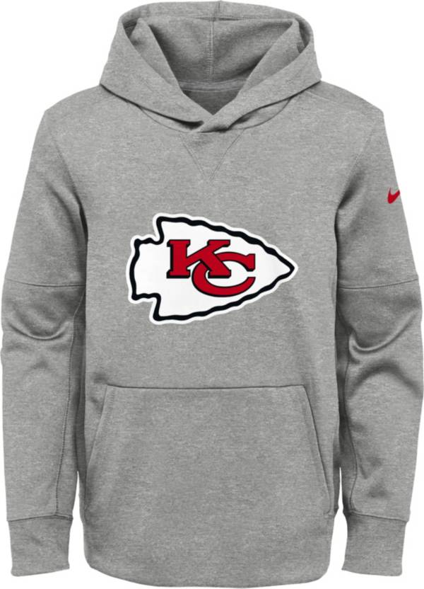Nike Youth Kansas City Chiefs Logo Essential Grey Hoodie product image