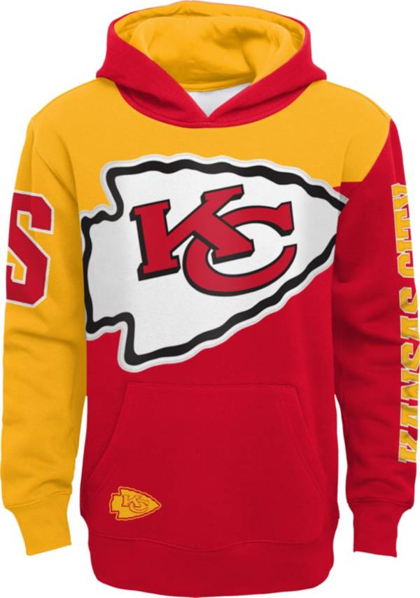 NFL Team Apparel Youth Kansas City Chiefs QB Sneak Pullover Hoodie product image