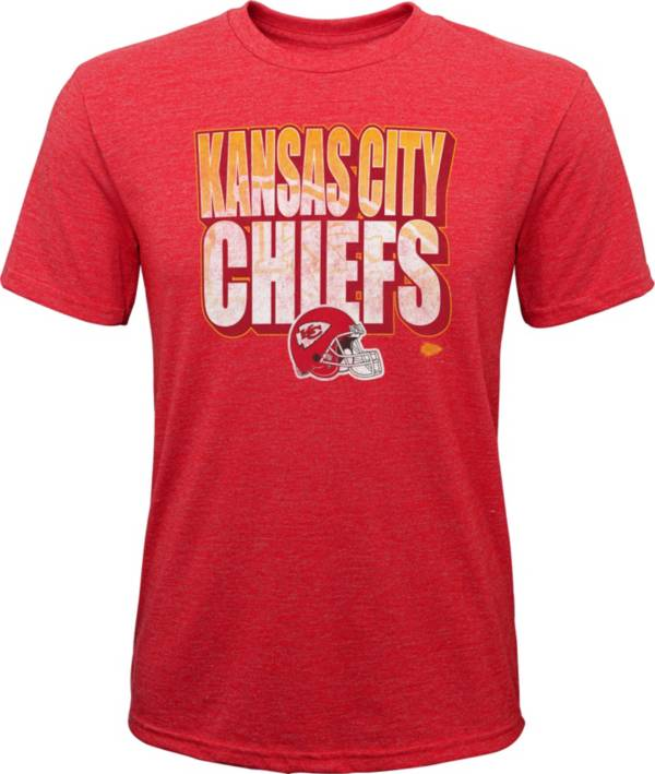 NFL Team Apparel Youth Kansas City Chiefs Stack Tri-Blend Red T-Shirt product image