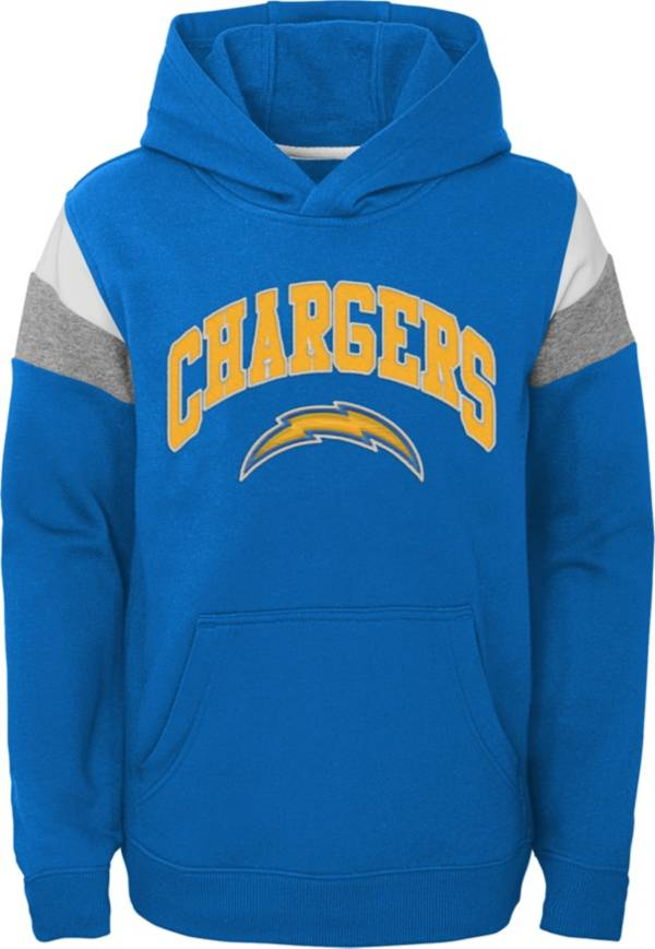 NFL Team Apparel Youth Los Angeles Chargers Retro Color Block Pullover Hoodie product image