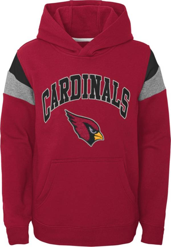 NFL Team Apparel Youth Arizona Cardinals Retro Color Block Pullover Hoodie product image