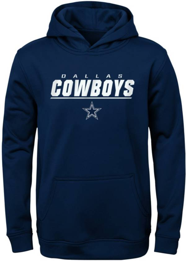 NFL Team Apparel Youth Dallas Cowboys Static Navy Hoodie product image