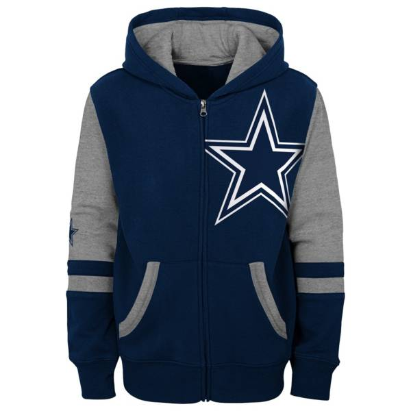 Dallas Cowboys Youth Color Block Full Zip Hoodie product image