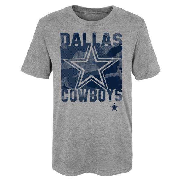 NFL Team Apparel Youth Dallas Cowboys Element Heather Grey T-Shirt product image