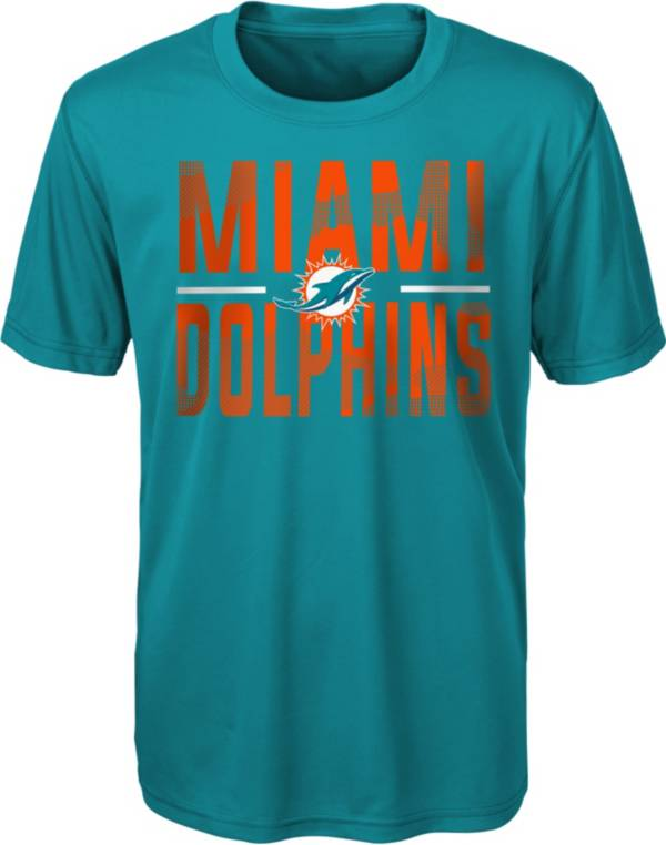 NFL Team Apparel Youth Miami Dolphins Aqua Grand Central T-Shirt product image