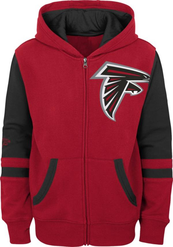 NFL Team Apparel Youth Atlanta Falcons Color Block Full-Zip Hoodie product image