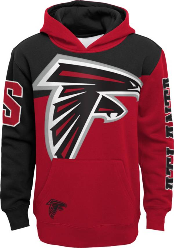 NFL Team Apparel Youth Atlanta Falcons QB Sneak Pullover Hoodie product image