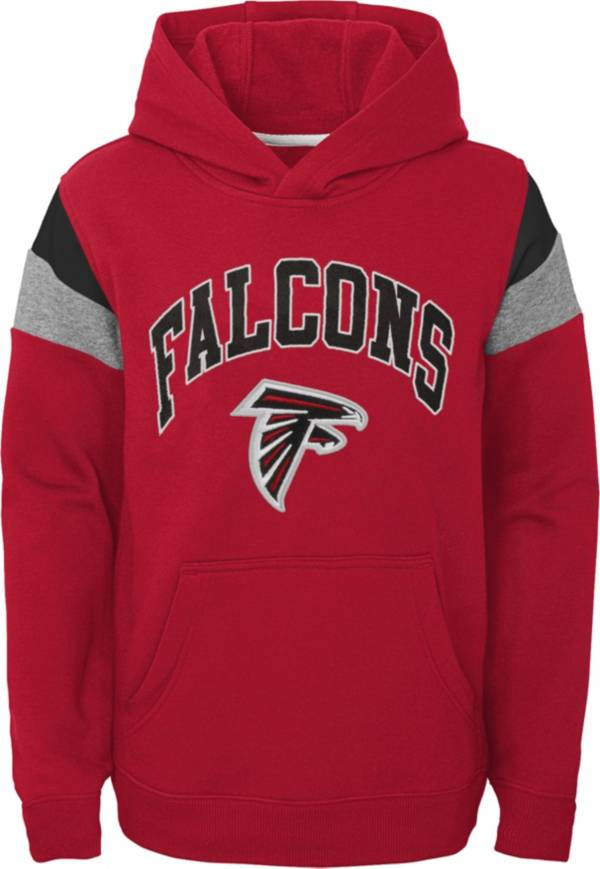 NFL Team Apparel Youth Atlanta Falcons Retro Color Block Pullover Hoodie product image