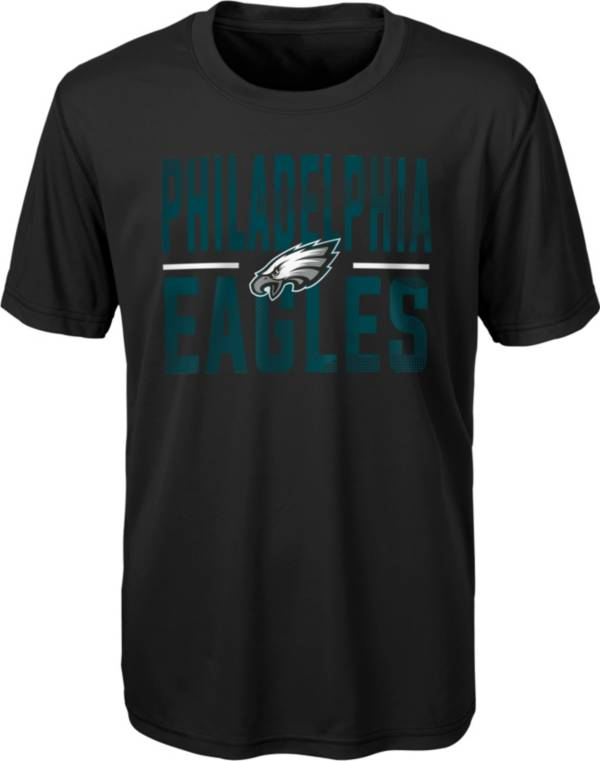 NFL Team Apparel Youth Philadelphia Eagles Grand Central Black T-Shirt product image