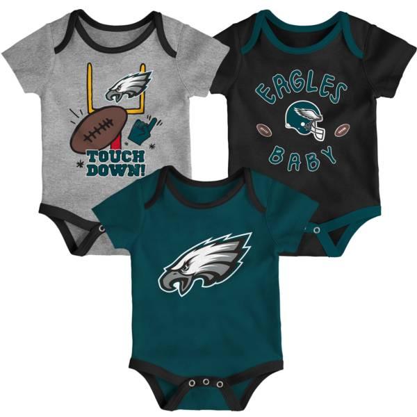 NFL Team Apparel Infant Philadelphia Eagles 3-Piece Creeper Set product image