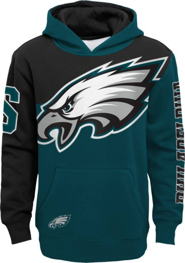 NFL Team Apparel Youth Philadelphia Eagles QB Sneak Pullover Hoodie product image
