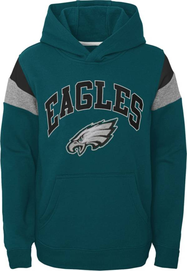 NFL Team Apparel Youth Philadelphia Eagles Retro Color Block Pullover Hoodie product image