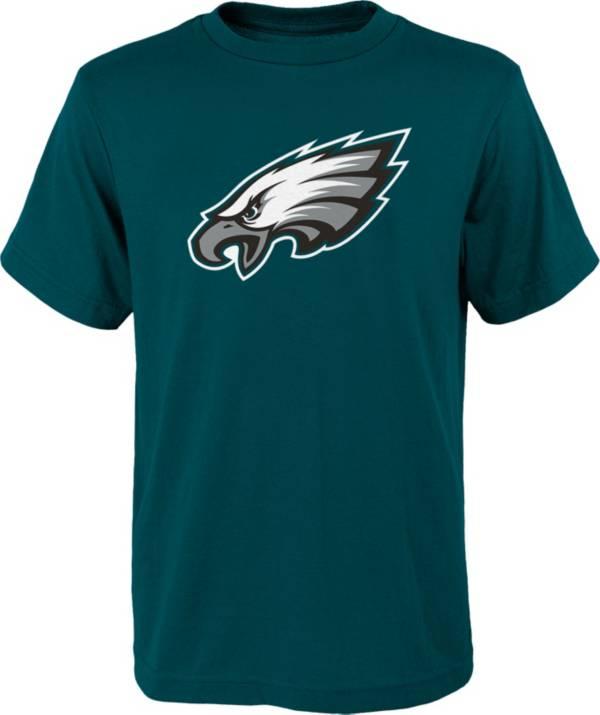 NFL Team Apparel Youth Philadelphia Eagles Green Team Logo T-Shirt product image