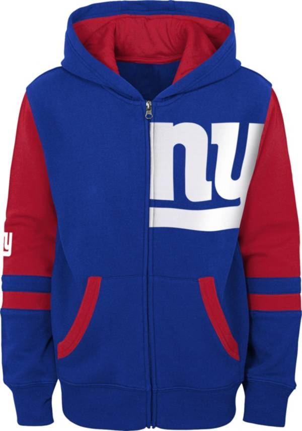 NFL Team Apparel Youth New York Giants Color Block Full-Zip Hoodie product image